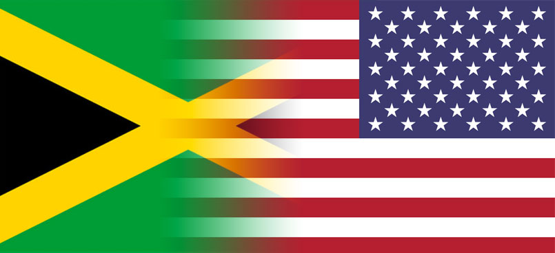 Jamaica - US Flags